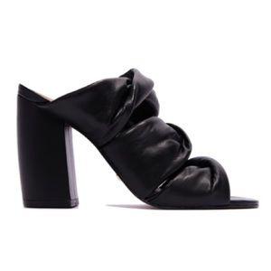 NIB L'Intervalle BV Dupe Black Leather Sandals 39